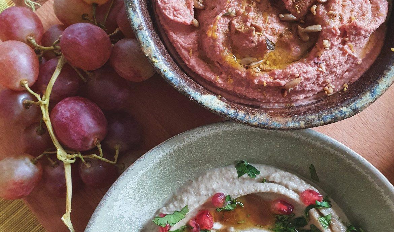 Base de hummus tradicional y otras variantes